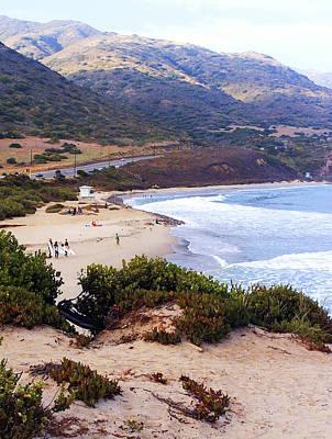 Santa Monica Digital Art - Day At The Beach by Ron Regalado