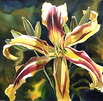 Day Lily Art Print by Alfred Ng