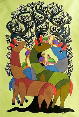 Gallerie Ak Painting - Db 208 by Durga Bai