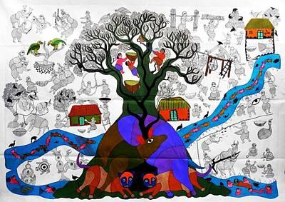 Durga Bai Painting - Db 209 by Durga Bai