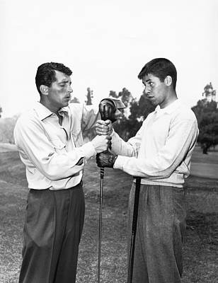 Comedian Photograph - Dean Martin & Jerry Lewis Golf by Underwood Archives