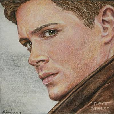 Drawing - Dean Winchester / Jensen Ackles by Christine Jepsen