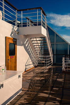 Photograph - Sports Deck Stairway by Marilyn Wilson