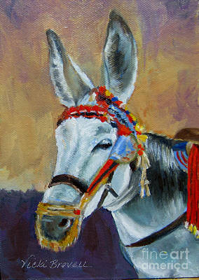 Painting - Decorated Donkey by Vicki Brevell