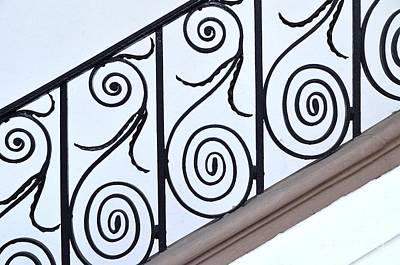 Grill Gate Photograph - Decorative Wrought Iron 3 by Allen Beatty