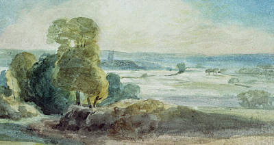 Vale Painting - Dedham Vale by John Constable