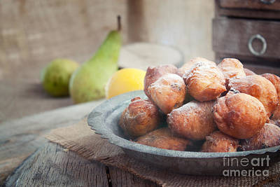Mythja Photograph - Deep Fried Fritters Donuts by Mythja  Photography