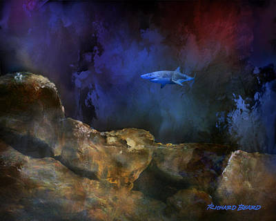 Digital Art - Deep Water Shark by Richard Beard