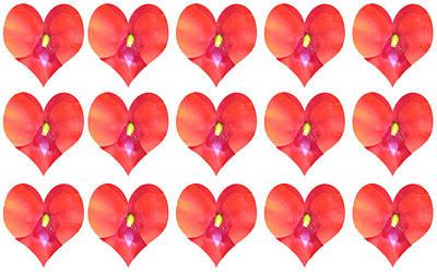 Photograph - Deeply In Love Cherryhill Flower Petal Based Sweet Heart Pattern Colormania Art by Navin Joshi