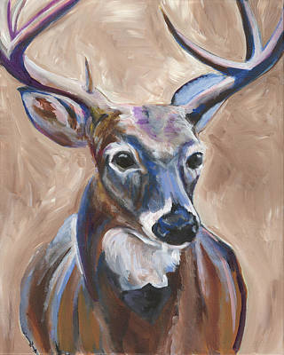 Camping Painting - Deer by Anne Seay