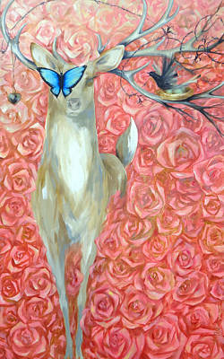 Painting - Deer To My Heart by Dina Dargo