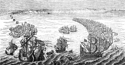 Defeat Of The Spanish Armada, 1588 Art Print
