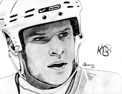 Nhl Hockey Drawing - Defence On Offence by Kayleigh Semeniuk
