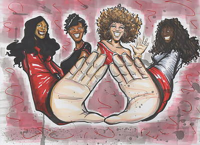 Figure Mixed Media - Delta Sigma Theta Sorority Inc by Tu-Kwon Thomas