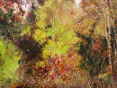 Painting - Dense Wood by Marilyn McMeen Brown