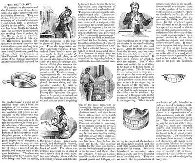 Dentures Photograph - Dentures, 1853 by Granger