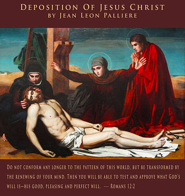 Religious Art Digital Art - Deposition Of Jesus Christ by Jean Leon Palliere