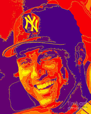 Derek Jeter Digital Art - Derek Jeter by Dalon Ryan