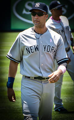 Derek Jeter Digital Art - Derek Jeter by Fred Bluhm