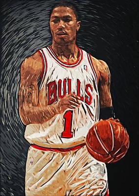 Athletes Digital Art - Derrick Rose by Zapista Zapista