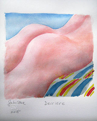 Derriere Art Print by Ray Johnstone