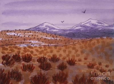Desert Contrasts Art Print