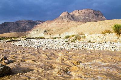 Desert Flash Flood Art Print by Photostock-israel