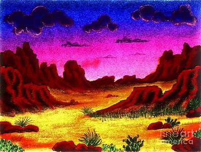 Drawing - Desert Glow by Karen Buford