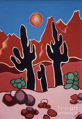 Painting - Desert Heat by Joyce Gebauer