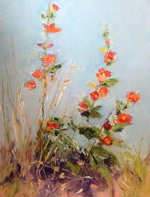 Grande Painting - Desert Plants In Bloom Vi by Carol Hopper
