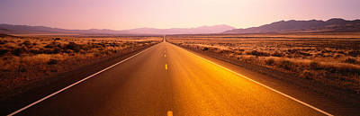 Desert Road, Nevada, Usa Art Print by Panoramic Images