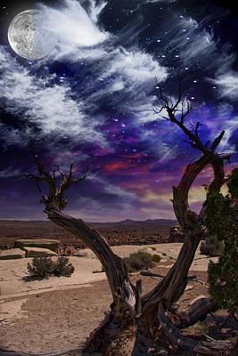 Art Print featuring the digital art Desert Tree by Bruce Rolff