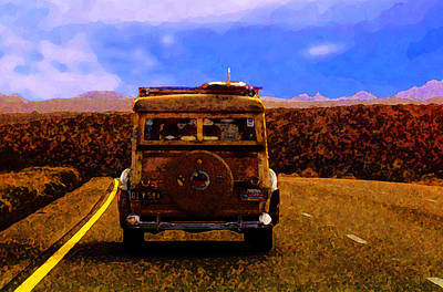 Classic Woodie Digital Art - Desert Woodie by Ron Regalado
