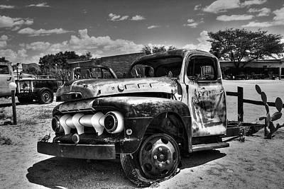 Photograph - Desert Wreck by Aidan Moran