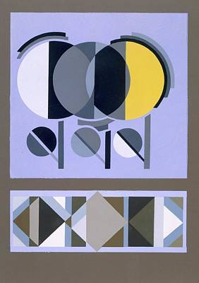 Modernism Drawing - Designs From Relais, C.1920s-1930 by Edouard Benedictus