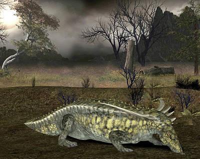 Triassic Photograph - Desmatosuchus Dinosaur by Friedrich Saurer