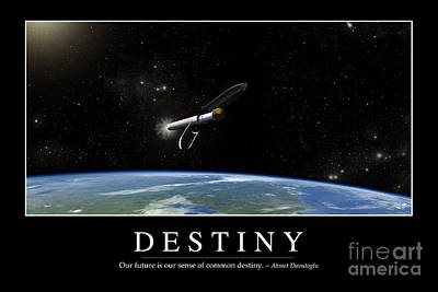 Separation Digital Art - Destiny Inspirational Quote by Stocktrek Images