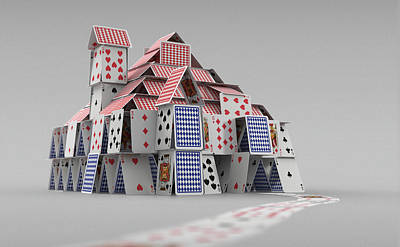 Photograph - Detached House Of Cards by Ikon Images
