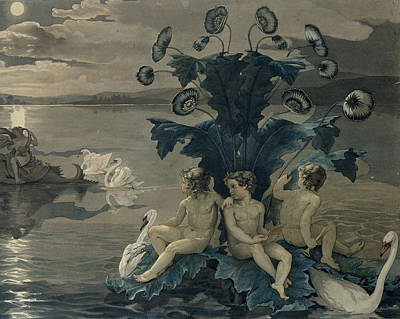 Sit-ins Painting - Detail Of Arion's Sea Journey by Philipp Otto Runge