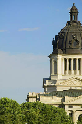 South Dakota Tourism Photograph - Detail Of Dome Of South Dakota State by Panoramic Images