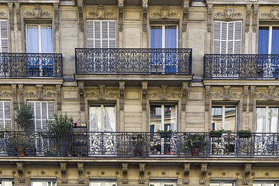 Photograph - Detail Of Traditional Facade In Paris by Francesco Rizzato
