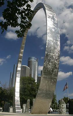Photograph - Detroit Labor Monument by Jim West