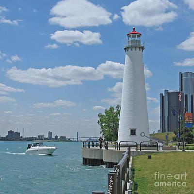Lego Art - Detroit Lighthouse by Ann Horn