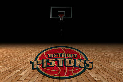 Detroit Pistons Art Print by Joe Hamilton