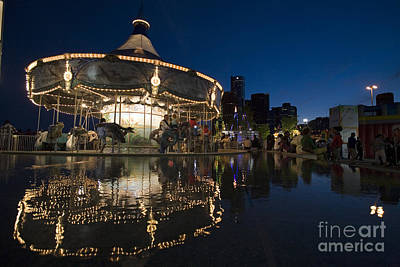 Photograph - Detroit River Carousel by Jim West