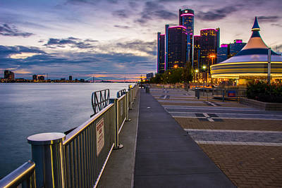 Photograph - Detroit River Walk by Pravin  Sitaraman