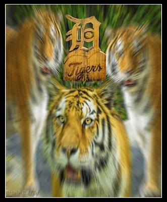 Detroit Tigers Baseball Art Print by LeeAnn McLaneGoetz McLaneGoetzStudioLLCcom