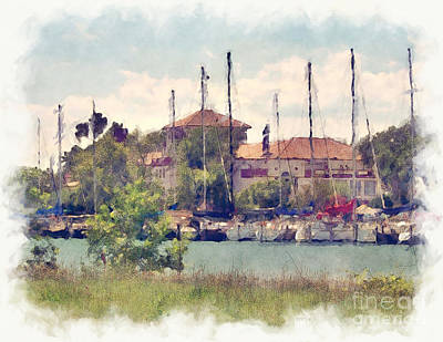Detroit Yacht Club Art Print