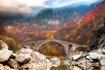 Autumn Landscape Photograph - Devil's Bridge by Evgeni Dinev