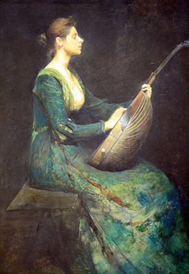 Dewing's Lady With A Lute Art Print by Cora Wandel